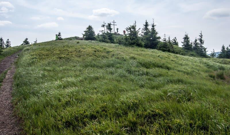 Colline de Mincol en montagnes de Mala Fatra en Slovaquie image libre de droits