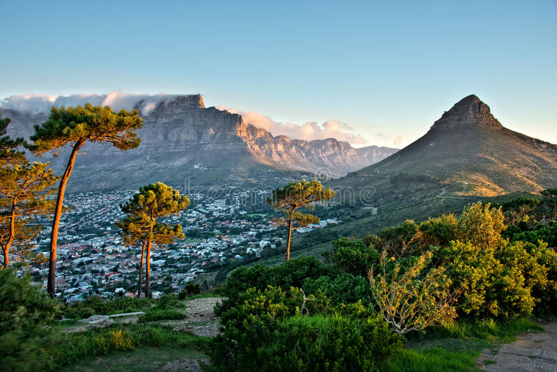 Colline de signal, Cape Town, Afrique du Sud photos libres de droits