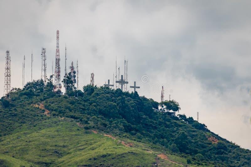 Colline de trois croix Cerro de Las Tres Cruces - Cali, Colombie photo libre de droits
