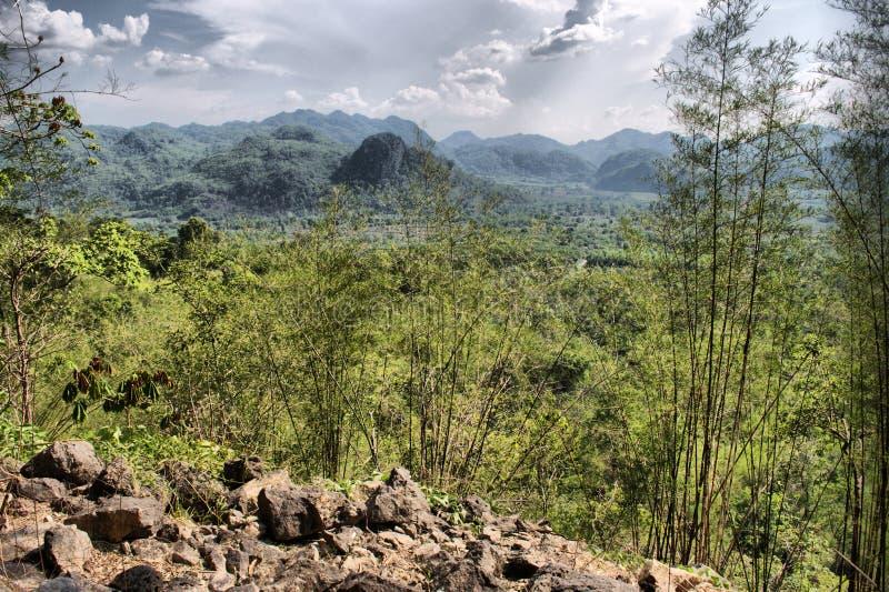Colline della Tailandia centrale fotografia stock libera da diritti