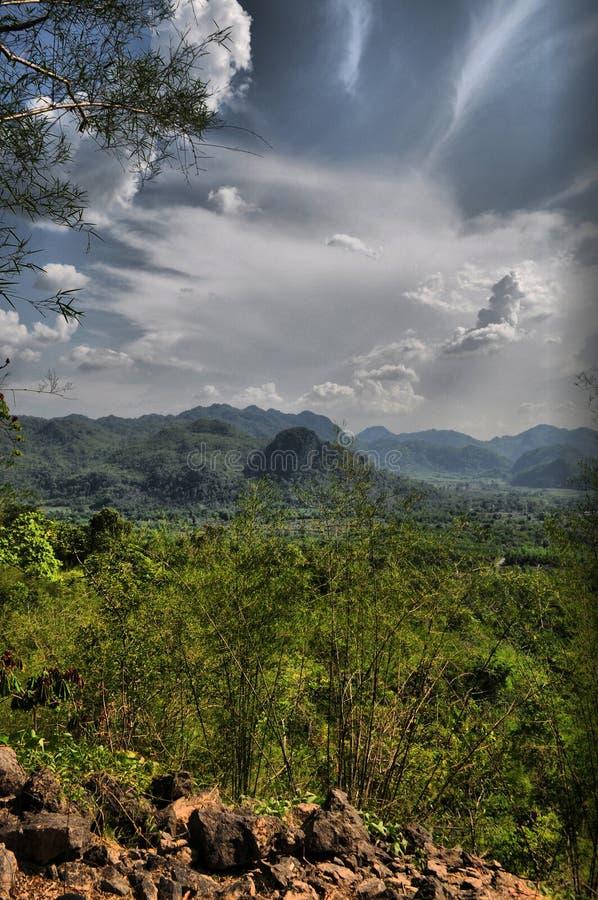 Colline della Tailandia centrale fotografia stock