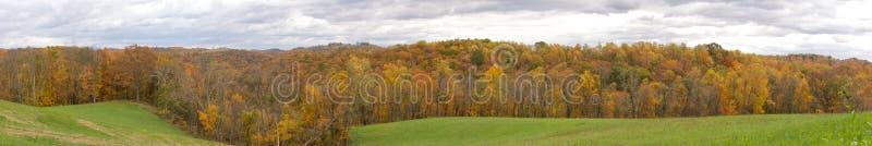 Colline di panorama della Virginia dell'Ovest fotografia stock libera da diritti
