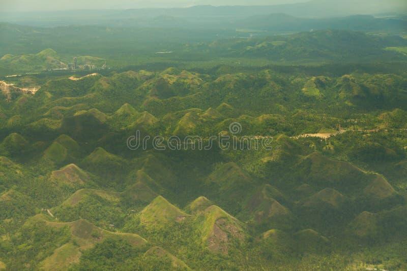 Colline Legazpi, Filippine del cioccolato della collina verde di Quitinday immagine stock