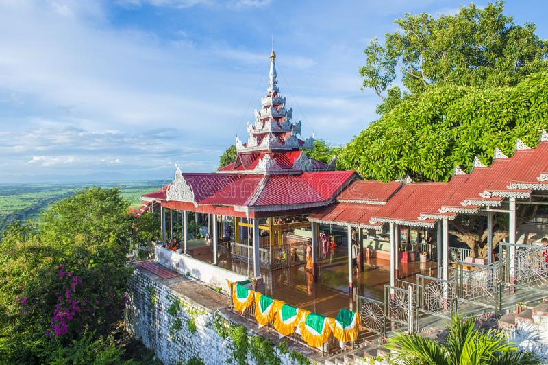 Colline Myanmar de Mandalay photo libre de droits