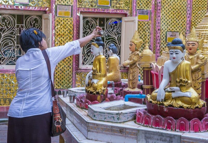 Colline Myanmar de Mandalay photographie stock libre de droits