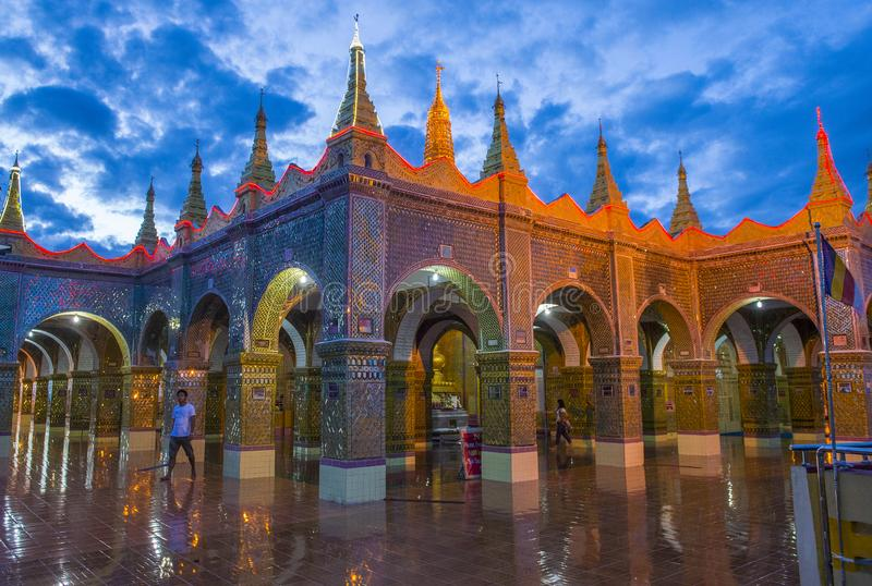 Colline Myanmar de Mandalay image stock