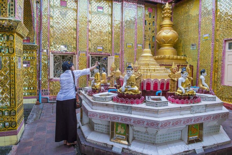 Colline Myanmar de Mandalay photos stock