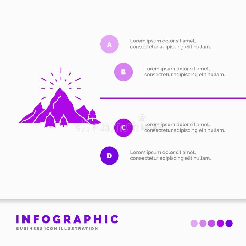 colline, paysage, nature, montagne, calibre d'Infographics de feux d'artifice pour le site Web et pr?sentation E illustration de vecteur