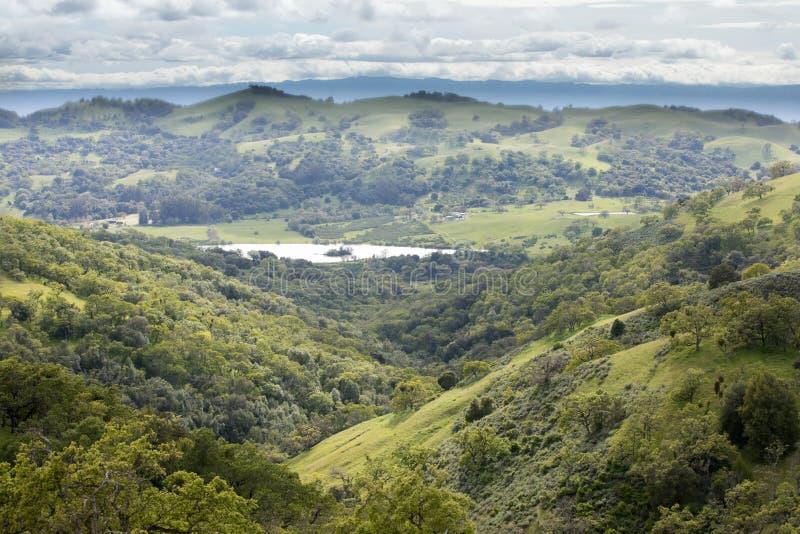 Colline pedemontana orientali di Santa Clara Valley e di Grant Lake fotografia stock libera da diritti