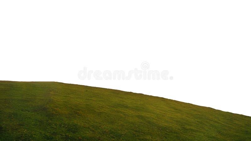 Colline ronde d'herbe d'isolement sur le fond blanc image stock