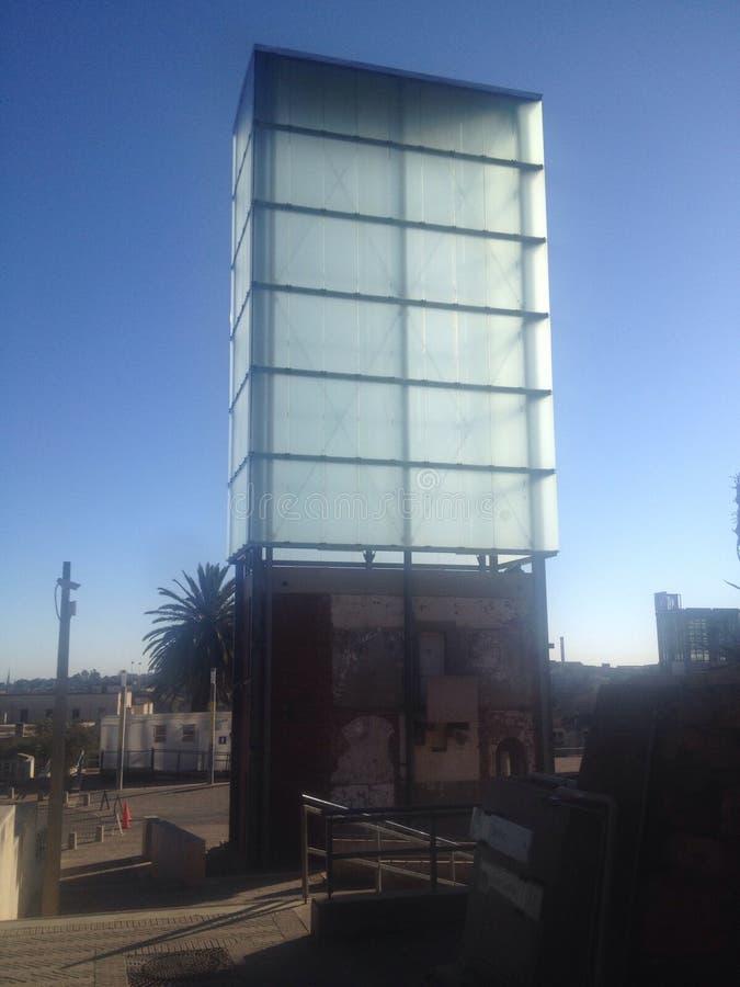 Colline SA, ici Nelson Mandela de constitution a été tenue en tant que prisonnier image stock
