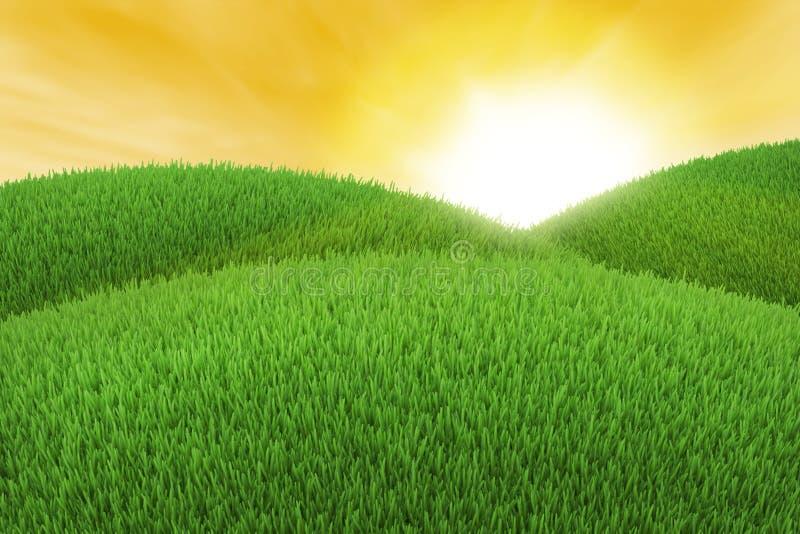 Colline verte illustration de vecteur