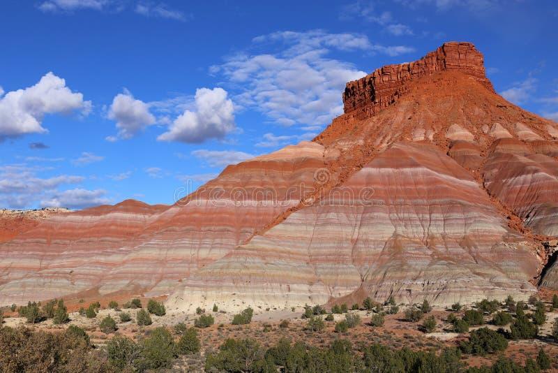 Collines colorées dans vieux Paria, monument national grand d'Escalier-Escalante, Utah photo stock
