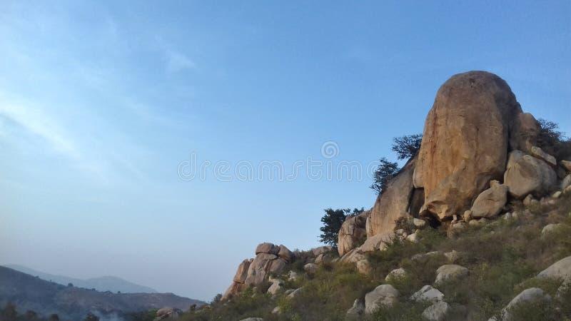 Collines de Horsley, Chittoor, Andhra Pradesh image stock
