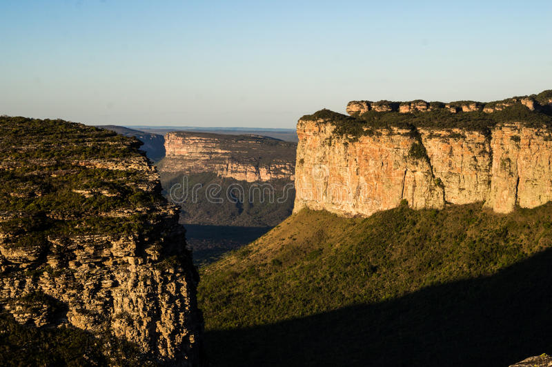 Collines de la chaîne de Sincora, Diamond Plateau (Chapada Diamantina) images libres de droits