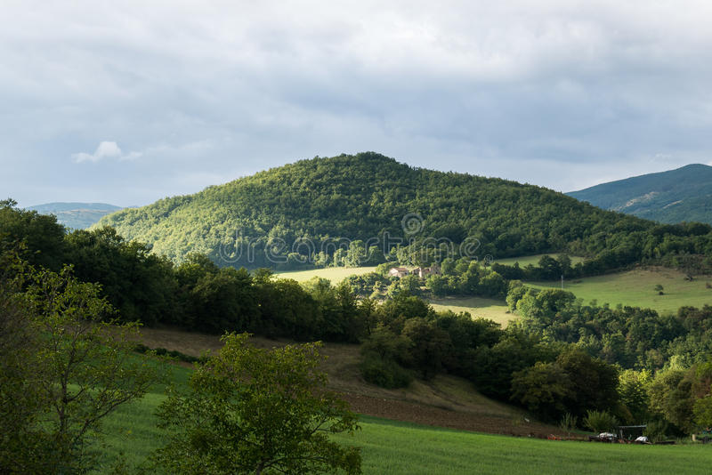 Collines de la Toscane photo libre de droits
