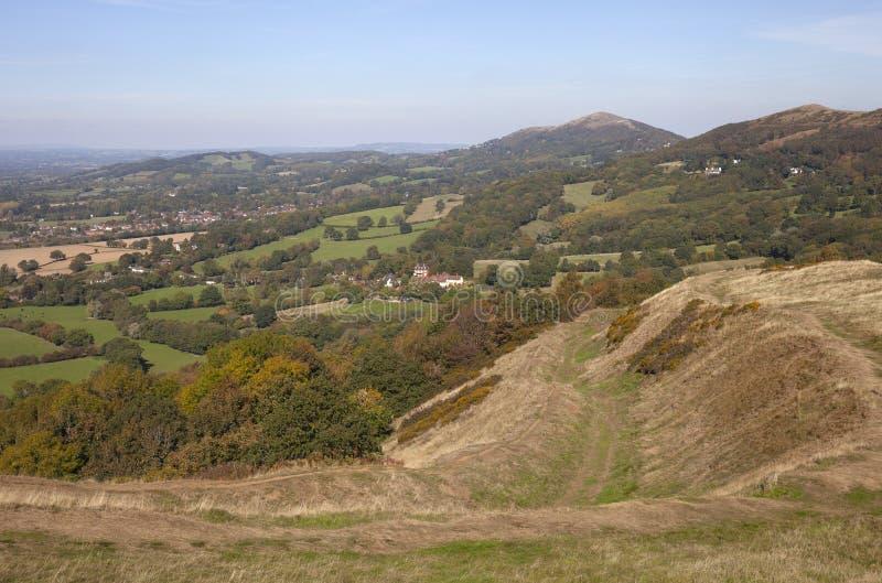 Collines de Malvern, Worcestershire, Angleterre image stock