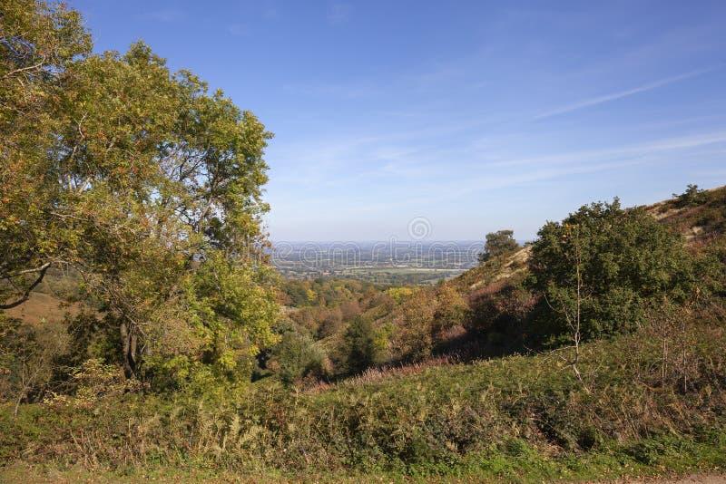 Collines de Malvern, Worcestershire, Angleterre photographie stock libre de droits