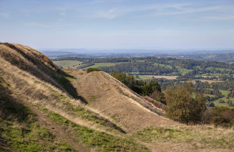 Collines de Malvern, Worcestershire, Angleterre photo libre de droits