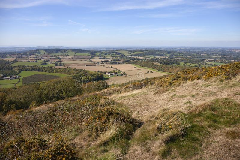 Collines de Malvern, Worcestershire, Angleterre images libres de droits