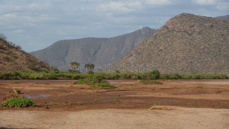 Collines de Ndotos au Kenya du nord photographie stock