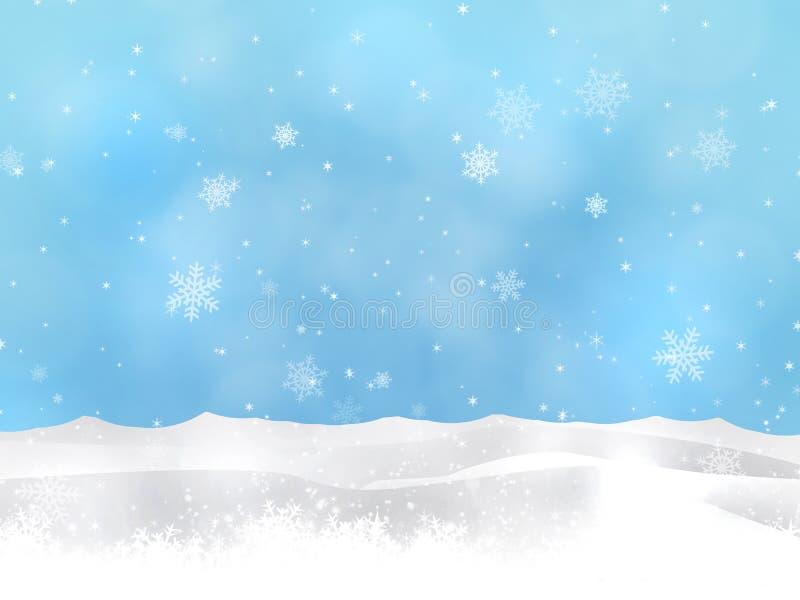 Collines de neige d'hiver illustration stock