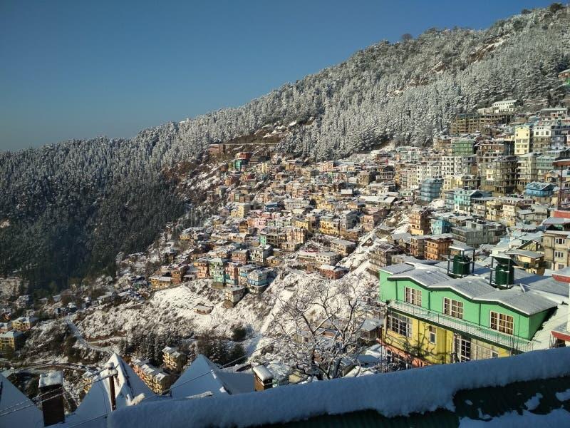 collines de Shimla images stock