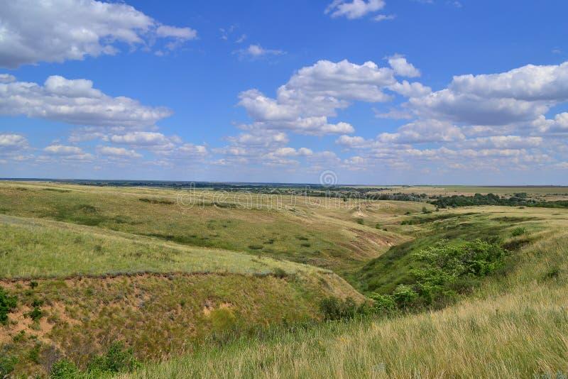 Collines de steppe images libres de droits