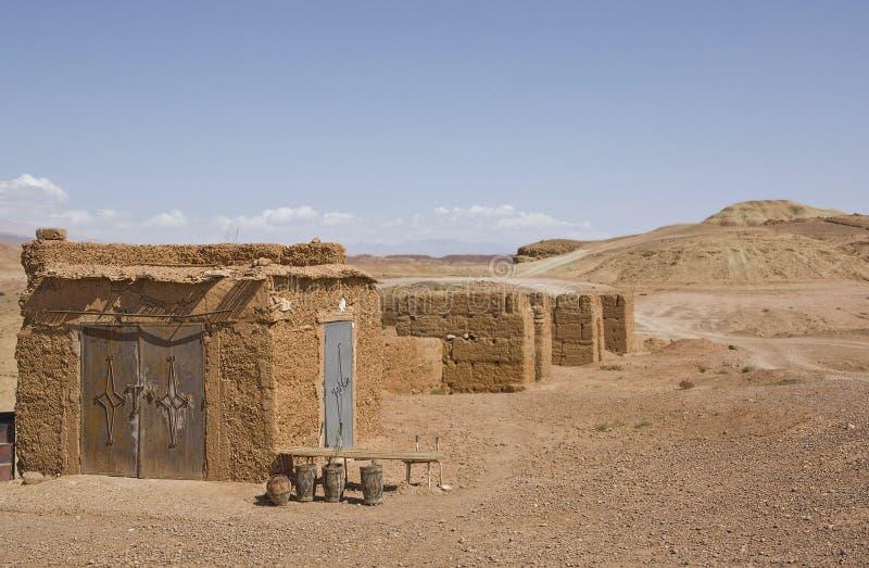 Collines isolées de Ksar Ait Ben Haddou, Maroc image libre de droits