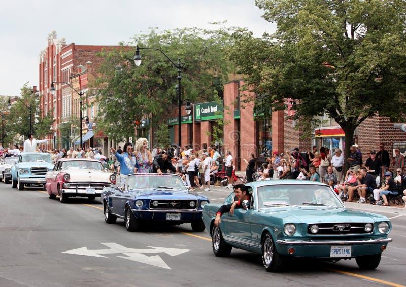 Collingwood Elvis Parade fotografie stock libere da diritti