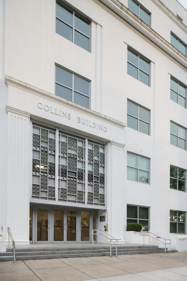 Collins που χτίζει το στο κέντρο της πόλης ΛΦ Tallahassee στοκ φωτογραφία