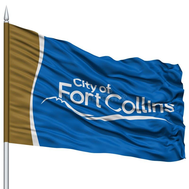 Collins City Flag forte sull'asta della bandiera, U.S.A. illustrazione di stock