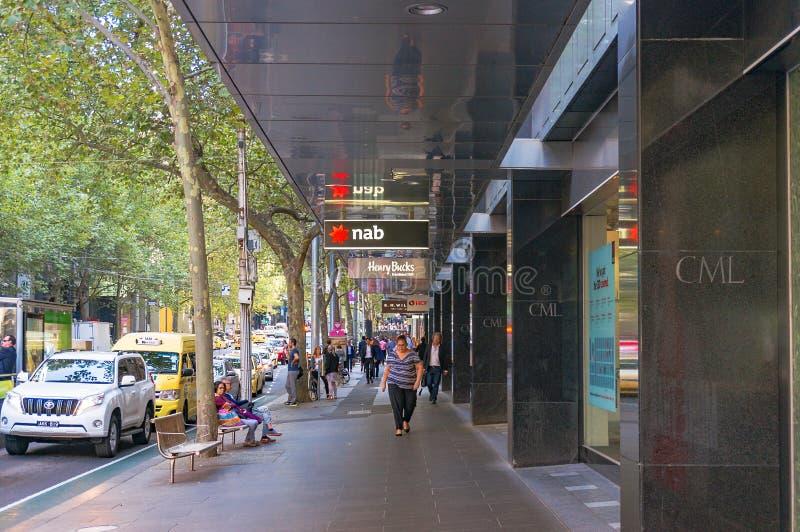 Collins ulica w Melbourne CBD fotografia stock