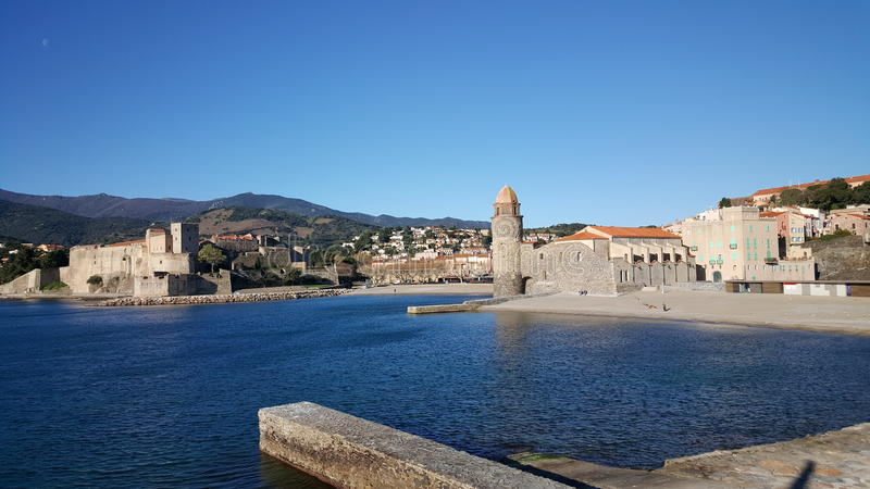 Collioure imagem de stock royalty free
