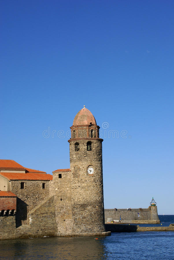 Collioure fort obrazy royalty free