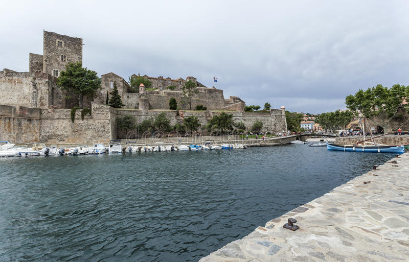Collioure, Occitanie, Frankreich lizenzfreies stockbild