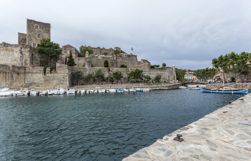Collioure, Occitanie, Frankrijk royalty-vrije stock afbeelding