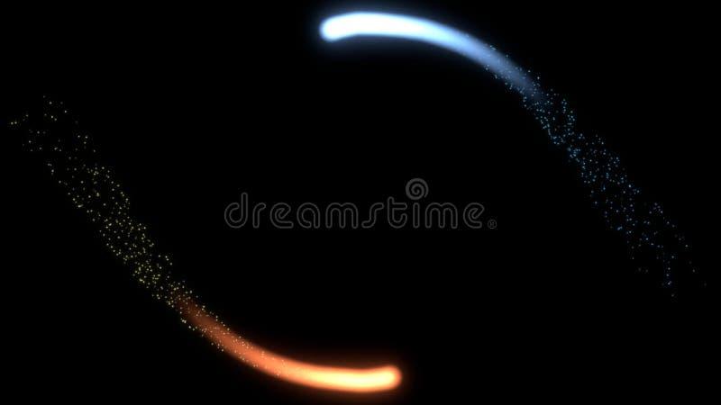 Collision cosmique illustration libre de droits