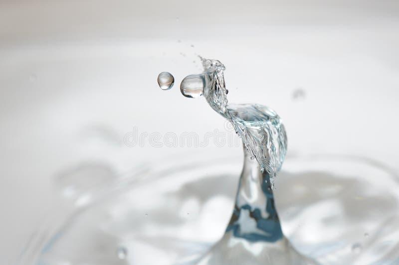 Collision de baisse de l'eau image libre de droits