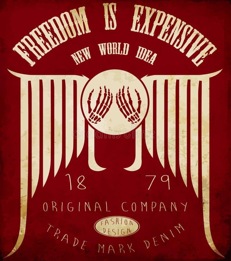 Collochi sul tee la progettazione grafica, lo slogan, il manifesto, progettazione della maglietta illustrazione di stock