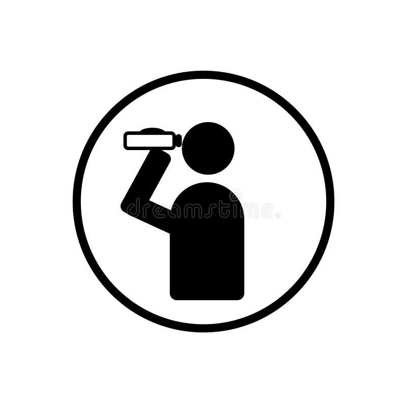 Collochi vedere il vettore dell'icona del posto isolato su fondo bianco, sito illustrazione vettoriale