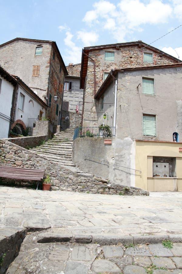 Collodi - weinig dorp in Toscanië royalty-vrije stock afbeeldingen