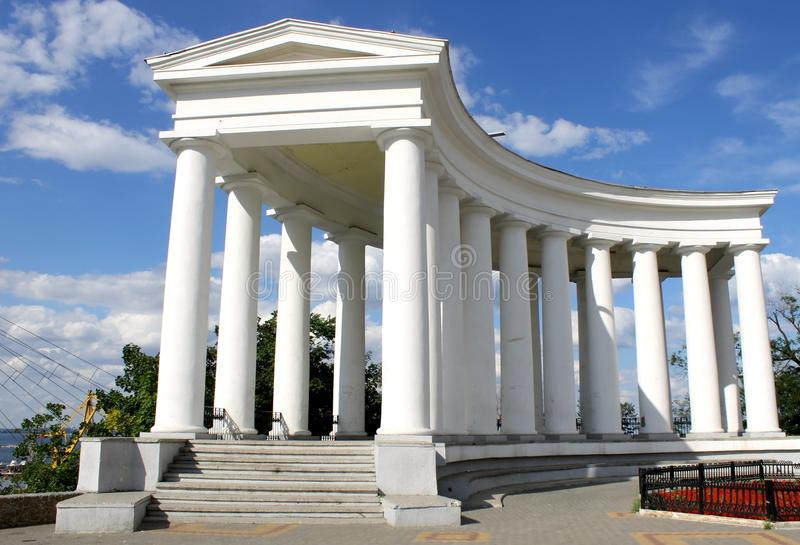Collonade in Odessa royalty free stock image