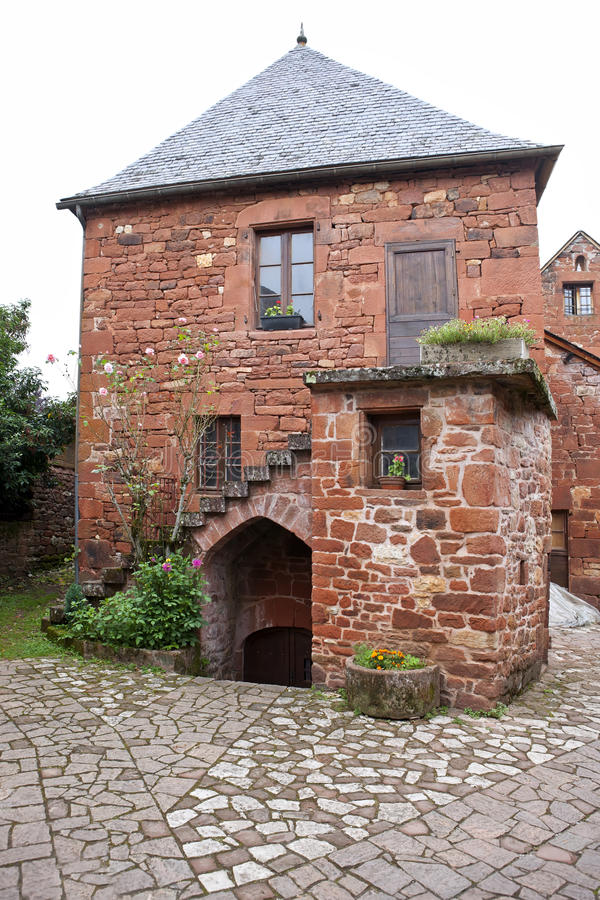 Download Collonges-la-Rouge, Traditional House Stock Photo - Image: 21609408