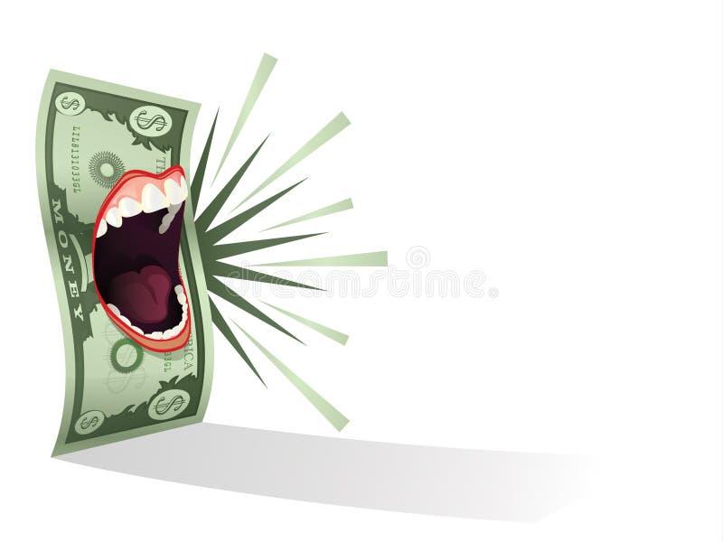 Colloqui dei soldi illustrazione di stock