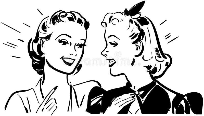Colloquio della ragazza royalty illustrazione gratis