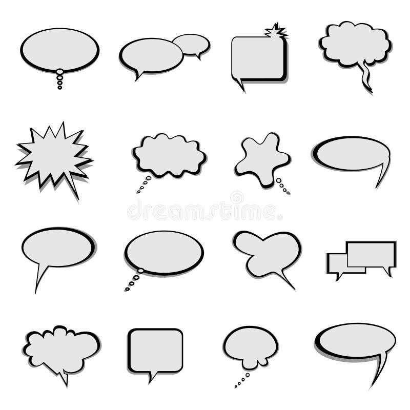 Colloquio ed aerostati o bolle di discorso royalty illustrazione gratis