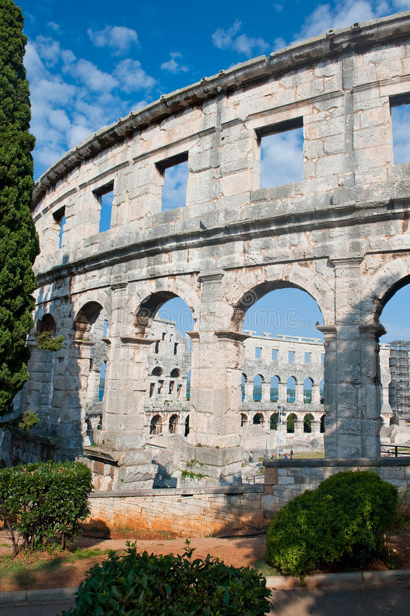 Colloseum in Pula. Taken on our croatian holidays royalty free stock photo