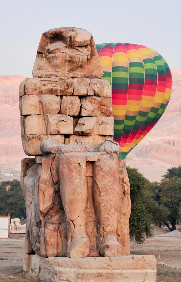 Collosi di Memnon - Luxor, Egitto immagini stock