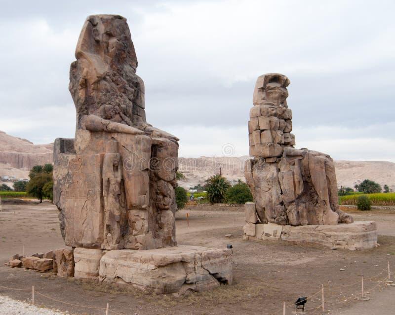 Collosi di Memnon - Luxor, Egitto fotografia stock